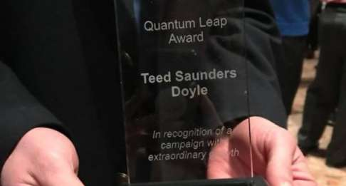 TSD wins Quantum Leap Award for our United Way campaign