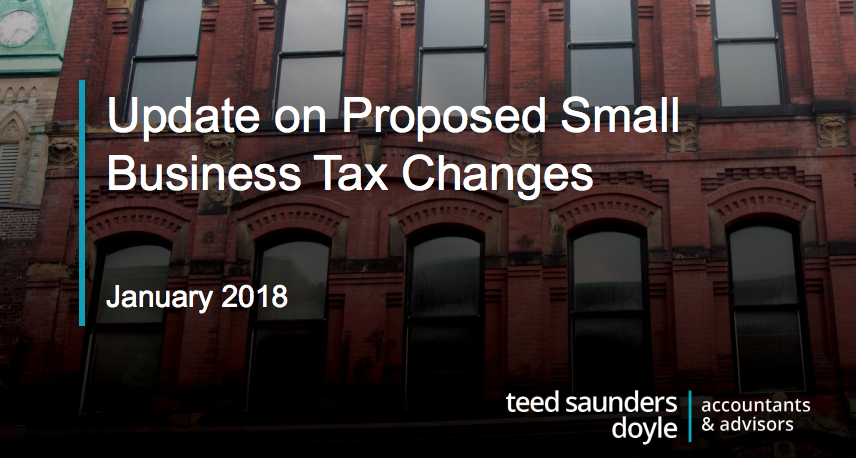 Slide deck from our info sessions on the proposed federal tax changes