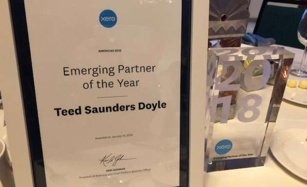 TSD wins Emerging Partner of the Year at Xero Americas Awards