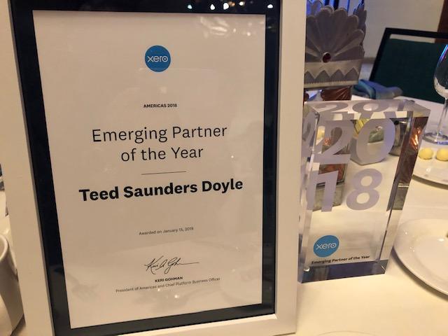 TSD wins Emerging Partner of the Year at Xero Americas Awards